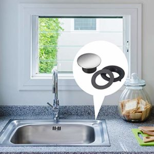 Kitchen Sink Tap Faucet Hole Cover 304 Stainless Steel for Dia 1.2 to 1.6 Inch