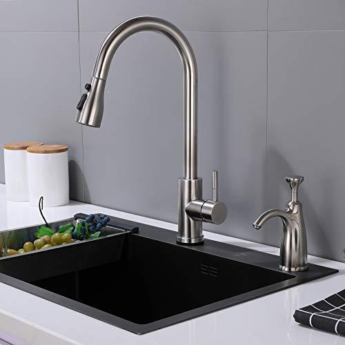 Gagalife Modern Kitchen Sink Soap Dispenser Brushed Nickel With 17oz Large Bottle Soap Dispenser Or Lotion Dispenser Kitchenfaucets Com