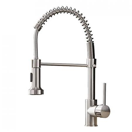OWOFAN-Kitchen-Faucets-Low-Lead-Commercial-Solid-Brass-Single-Handle-Single-Lever-Pull-Down-Sprayer-Spring-Kitchen-Sink-Faucet-Brushed-Nickel-0