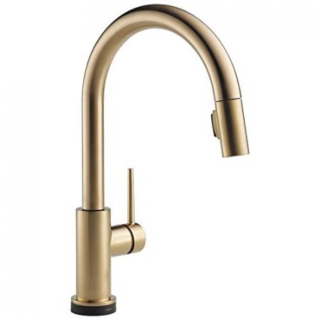 Delta-Faucet-Trinsic-Single-Handle-Touch-Kitchen-Sink-Faucet-with-Pull-Down-Sprayer-Touch2O-Technology-and-Magnetic-Docking-Spray-Head-Champagne-Bronze-9159T-CZ-DST-0