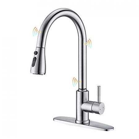 ARRISEA-Touchless-Kitchen-Sink-Faucet-with-Pull-Down-SprayerBrushed-Nickel-Touch-on-Kitchen-Faucets-with-Three-Water-Flow-Modes-Magnetic-Docking-Head-0