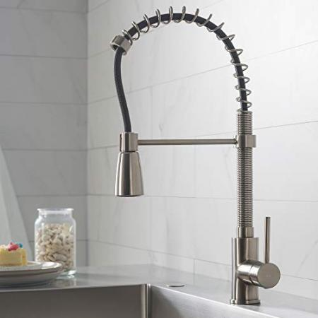 Kraus-KPF-1612SS-Single-Lever-Pull-Down-Kitchen-Faucet-in-Stainless-Steel-0