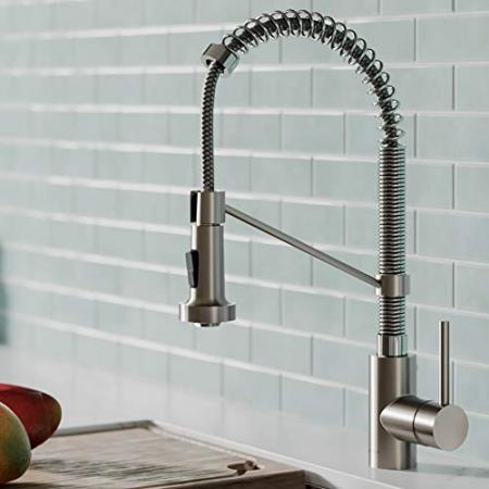 Kraus-KPF-1610SFSCH-Bolden-18-Inch-Commercial-Kitchen-Faucet-with-Dual-Function-Pull-Down-Sprayhead-in-All-Brite-Finish-Spot-Free-Stainless-SteelChrome-0