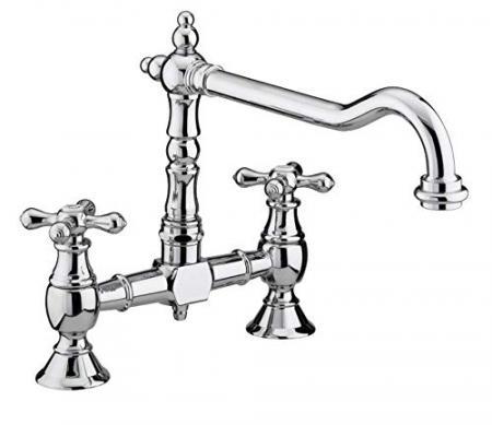 Bristan-K-BRSNK-C-Colonial-Bridge-Kitchen-Sink-Mixer-Tap-with-Swivel-Spout-Chrome-0