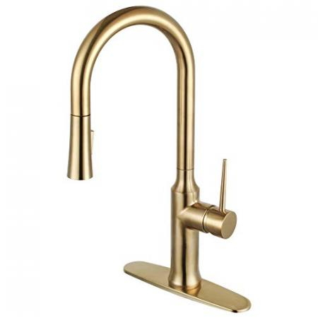 Kingston-Brass-LS2723NYL-New-York-Single-Handle-Pull-Down-Kitchen-Faucet-Brushed-Brass-0
