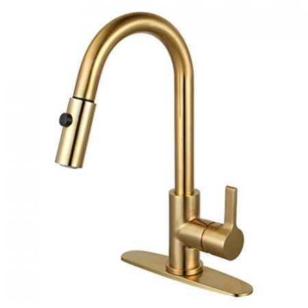 Kingston-Brass-LS8783CTL-Continental-Single-Handle-Pull-Down-Kitchen-Faucet-Brushed-Brass-0