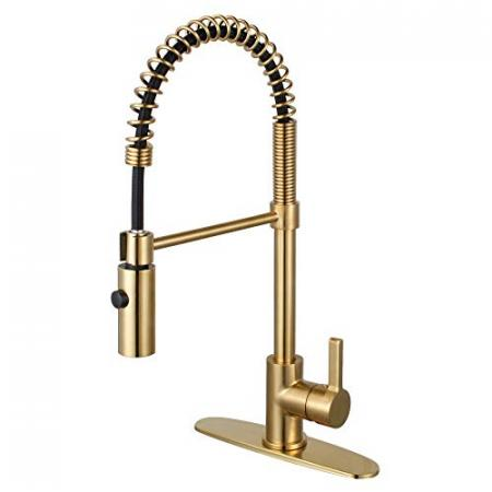 Kingston-Brass-LS8773CTL-Continental-Single-Handle-Pre-Rinse-Kitchen-Faucet-Brushed-Brass-0